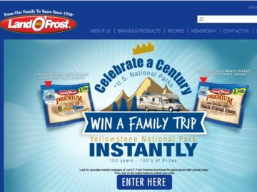 """The Land O'Frost """"Celebrate a Century of US National Parks"""" Sweepstakes"""