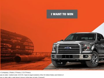 The 2016 Ford Vehicle Sweepstakes