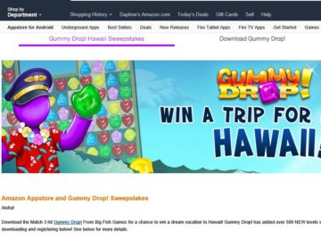 The Amazon Appstore and Big Fish Games Sweepstakes