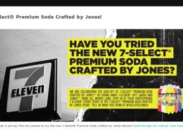 The Jones Soda 7-Select giveaway Sweepstakes
