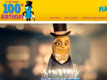 Mr. Peanut's 100th Birthday Sweepstakes