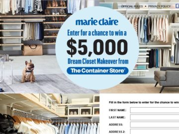 Marie Claire The Container Store Sweepstakes
