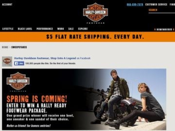 """The Wolverine World Wide Inc. Harley-Davidson Footwear 2016 """"Rally Ready"""" Sweepstakes"""