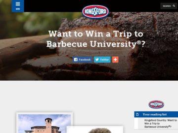 Kingsford BBQ U Contest