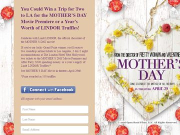 Celebrate the Sweetest Mother's Day with Lindt Chocolate Contest
