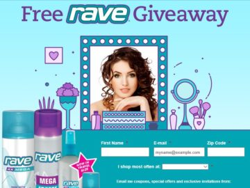 The Spring FREE Rave Hairspray Giveaway Sweepstakes