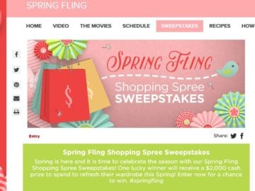 Hallmark Channel's Spring Fling Shopping Spree Sweepstakes