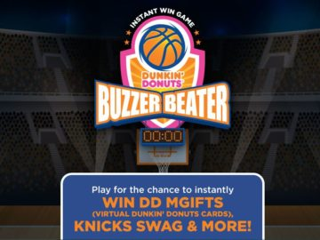 The Dunkin' Donuts Buzzer Beater Instant Win Game & Sweepstakes