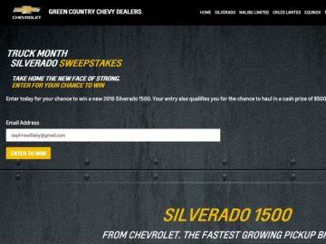 Chevrolet Truck Month Sweepstakes – Select States