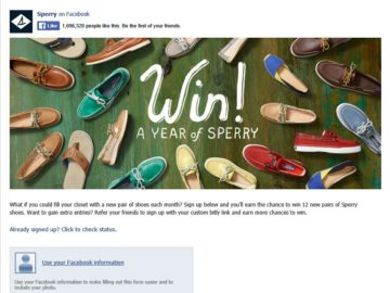 """The 2016 Sperry """"Year of Sperry"""" Sweepstakes"""