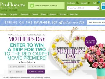 The ProFlowers Mother's Day Film Premiere Sweepstakes