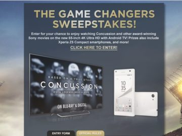 The Game Changers Sweepstakes