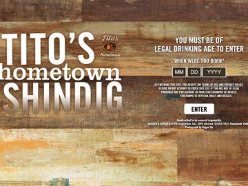 The Tito's Handmade Vodka Austin City Limits Sweepstakes