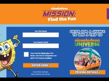 Nickelodeon Mission: Find The Fun Sweepstakes