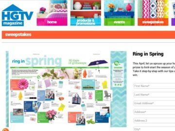 HGTVMagOnline.com Ring in Spring Sweepstakes