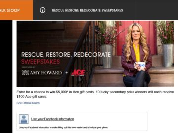 The USA Network Rescue Restore Redecorate Sweepstakes