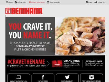 Benihana Crave the Name Contest