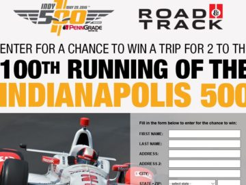 Road & Track Indy 500 Sweepstakes