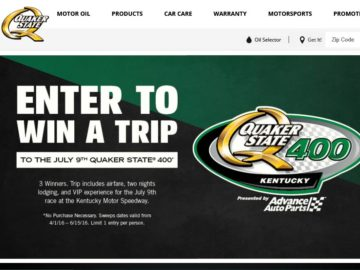 Quaker State 400 Sweepstakes