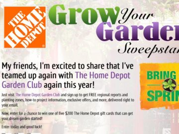 Delilah's The Home Depot Grow Your Garden Sweepstakes