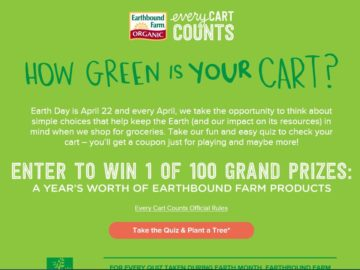 The Earthbound Farm How Green is Your Cart Quiz Sweepstakes