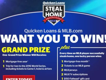 MLB.com & Quicken Loans Steal-A-Home Sweepstakes