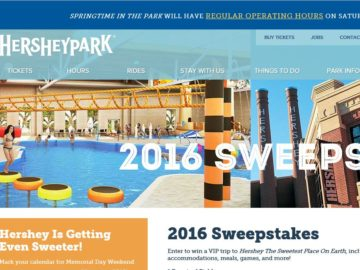Hershey Entertainment What's New for 2016 Sweepstakes