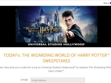 The Today's: The Wizarding World of Harry Potter Sweepstakes