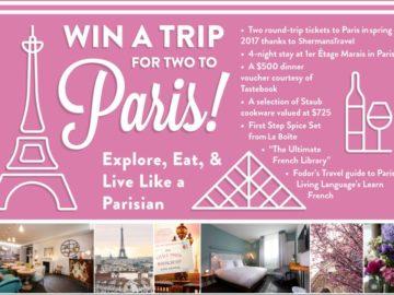 Read It Forward Trip to Paris Sweepstakes