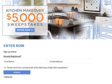 $5,000 Kitchen Makeover Sweepstakes
