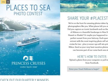 Princess Cruises Places to Sea Contest