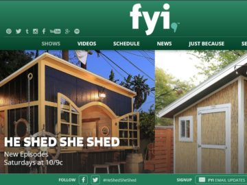 FYI TV'S He Shed She Shed Sweepstakes