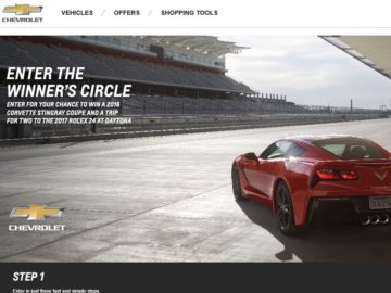 Chevrolet Win the 2016 Corvette Stingray Coupe Sweepstakes