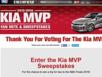 Kia Motors MVP Sweepstakes