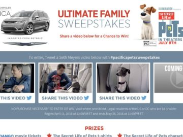 The Chrysler Ultimate Family Sweepstakes