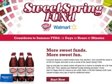 Diet Dr Pepper Sweet Spring FUNd Sweepstakes