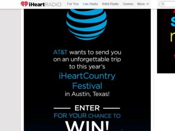 AT&T iHeartRadio Country Festival Sweepstakes