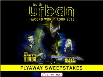 The Live Nation Keith Urban Flyaway Sweepstakes