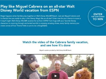 The ESPN Disney Unforgettable Sweepstakes