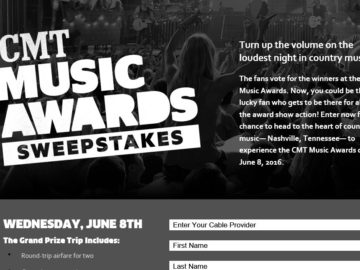 CMT Music Awards Sweepstakes
