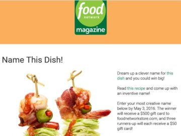 The food network magazine name this dish contest forumfinder Choice Image