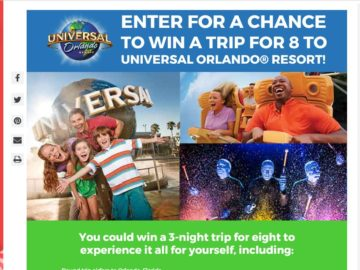 Hallmark Channel Ultimate Family Destination Sweepstakes