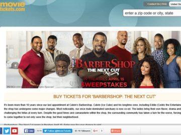 "MovieTickets.com's ""Barbershop: The Next Cut"" Sweepstakes"
