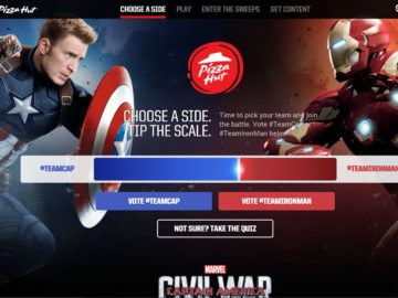 Pizza Hut / Marvel's Captain America: Civil War Sweepstakes