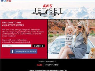 Avis Jet Set Sweepstakes