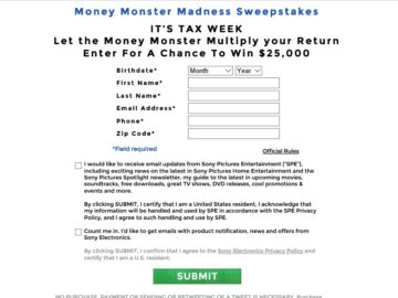 """The """"MONEY MONSTER MADNESS"""" Sweepstakes"""