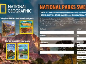The National Geographic National Parks Sweepstakes