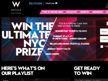 The WHotelsTheStore.com 2016 Get Amped Sweepstakes