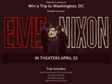 The Elvis & Nixon: Trip to the National Archives Sweepstakes