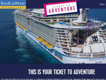 Royal Caribbean Ticket to Adventure Sweepstakes